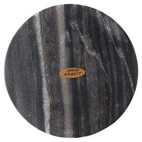 Plato portavela piedra natural diámetro 14 cm s2