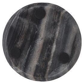 Plato portavela piedra natural diámetro 14 cm s3