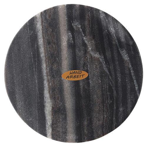 Plato portavela piedra natural diámetro 14 cm 2