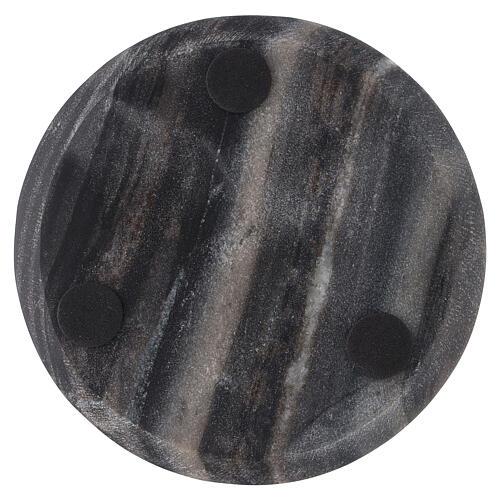 Plato portavela piedra natural diámetro 14 cm 3