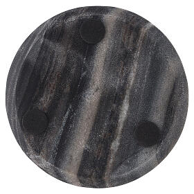 Stone candle holder plate of 5 1/2 in diameter s3