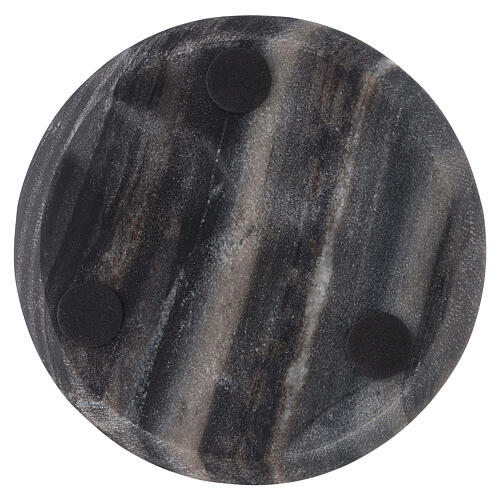 Stone candle holder plate of 5 1/2 in diameter 3