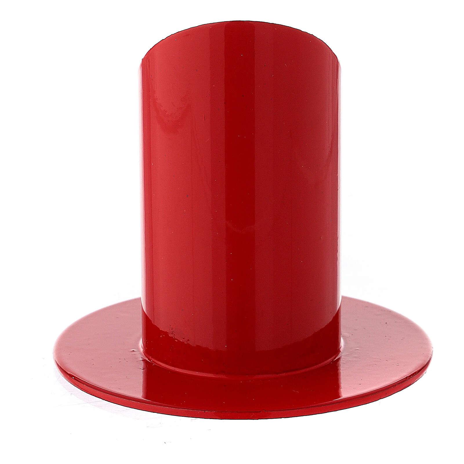 Portacandela rosso ferro 4 cm 3