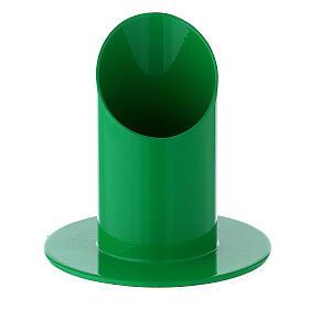 Portacandela 4 cm ferro verde acceso s1