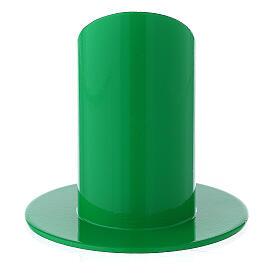 Portacandela 4 cm ferro verde acceso s3