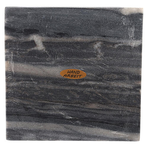 Plato portacirio cuadrado piedra natural 14 cm 2