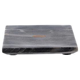 Piatto portacero quadrato pietra naturale 14 cm s1