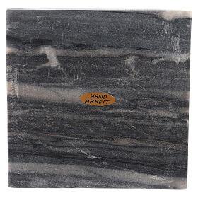 Piatto portacero quadrato pietra naturale 14 cm s2