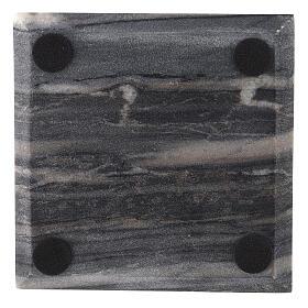 Piatto portacero quadrato pietra naturale 14 cm s3