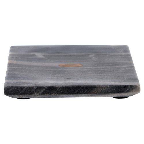 Piatto portacero quadrato pietra naturale 14 cm 1