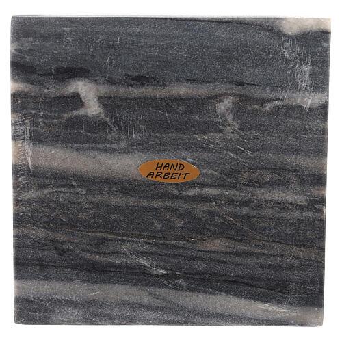 Piatto portacero quadrato pietra naturale 14 cm 2