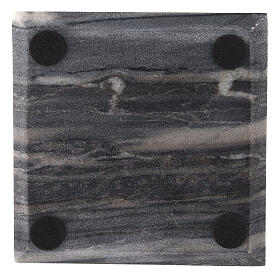 Square candle holder plate of natural stone 5 1/2 in s3