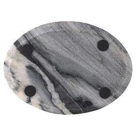 Plato para vela 17x12 cm piedra natural s3
