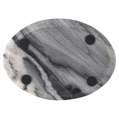 Plato para vela 17x12 cm piedra natural 3