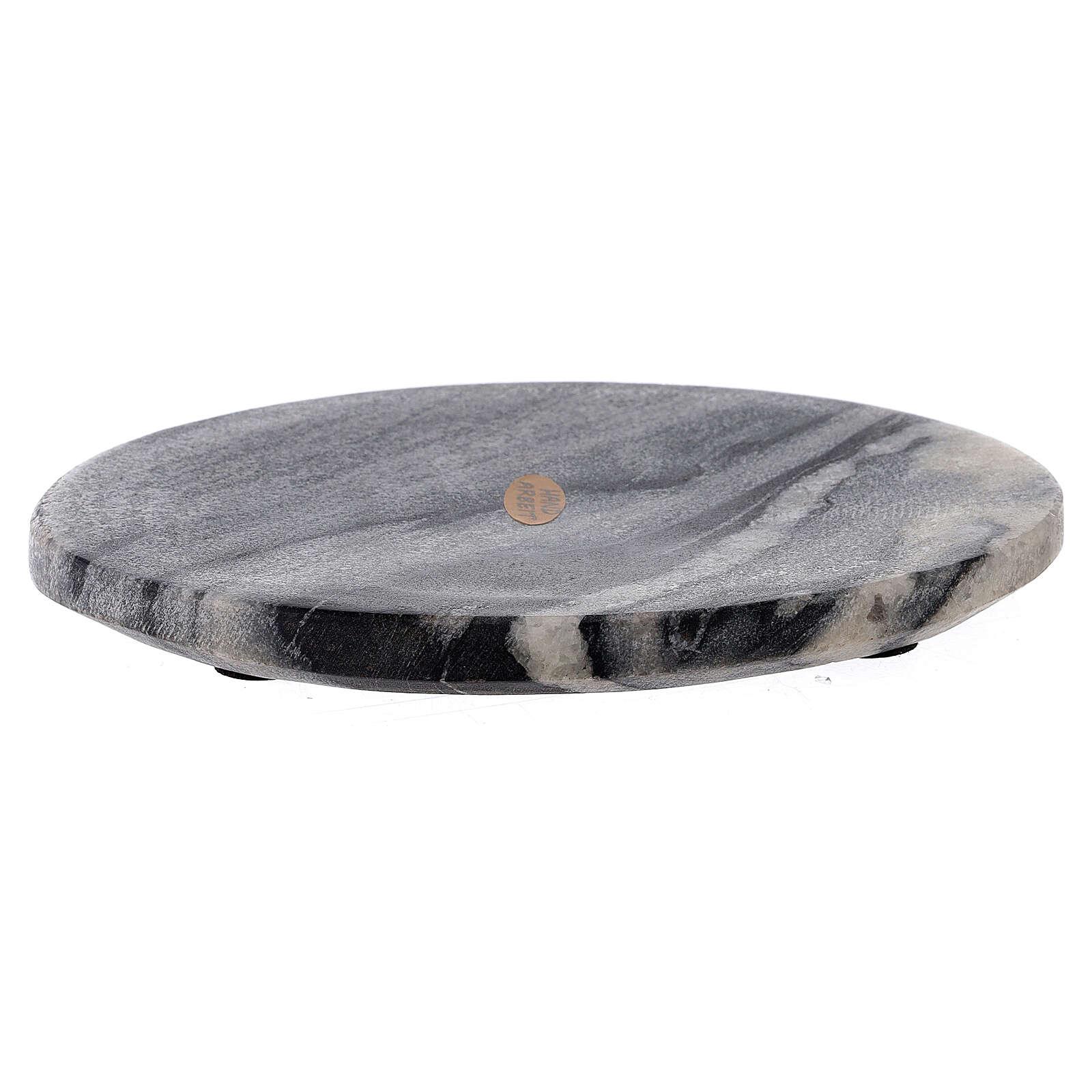Piatto per candela 17x12 cm pietra naturale 3