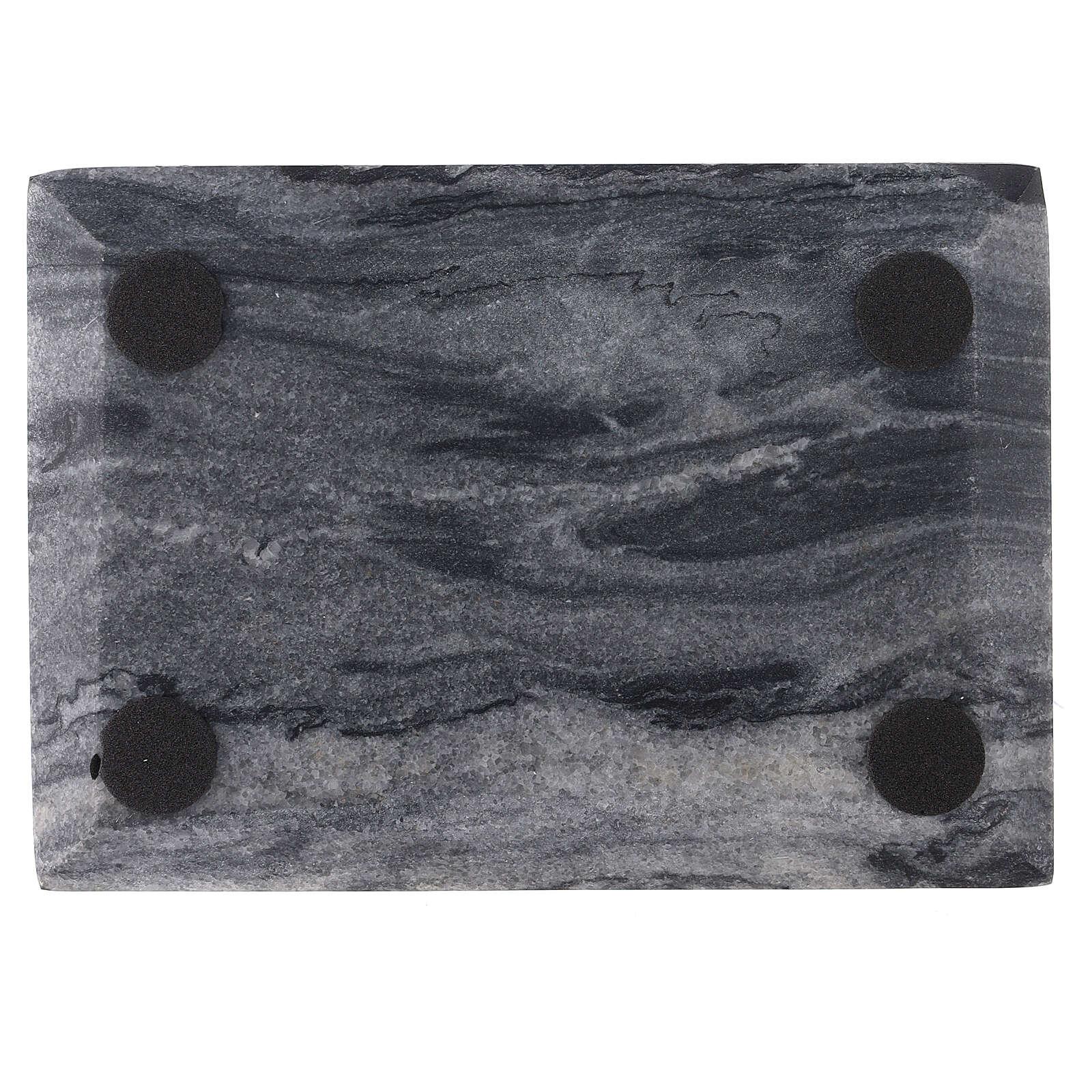 Plato portacirio rectangular piedra natural 17x12 3