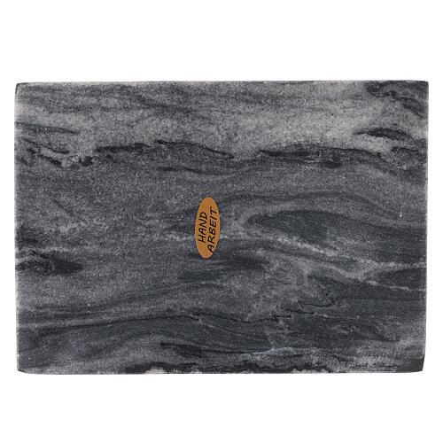 Plato portacirio rectangular piedra natural 17x12 2