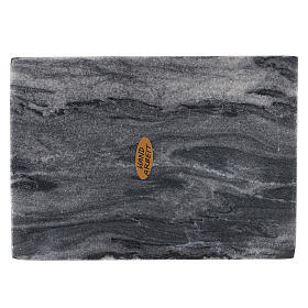 Assiette porte-bougie rectangulaire pierre naturelle 17x12 cm s2