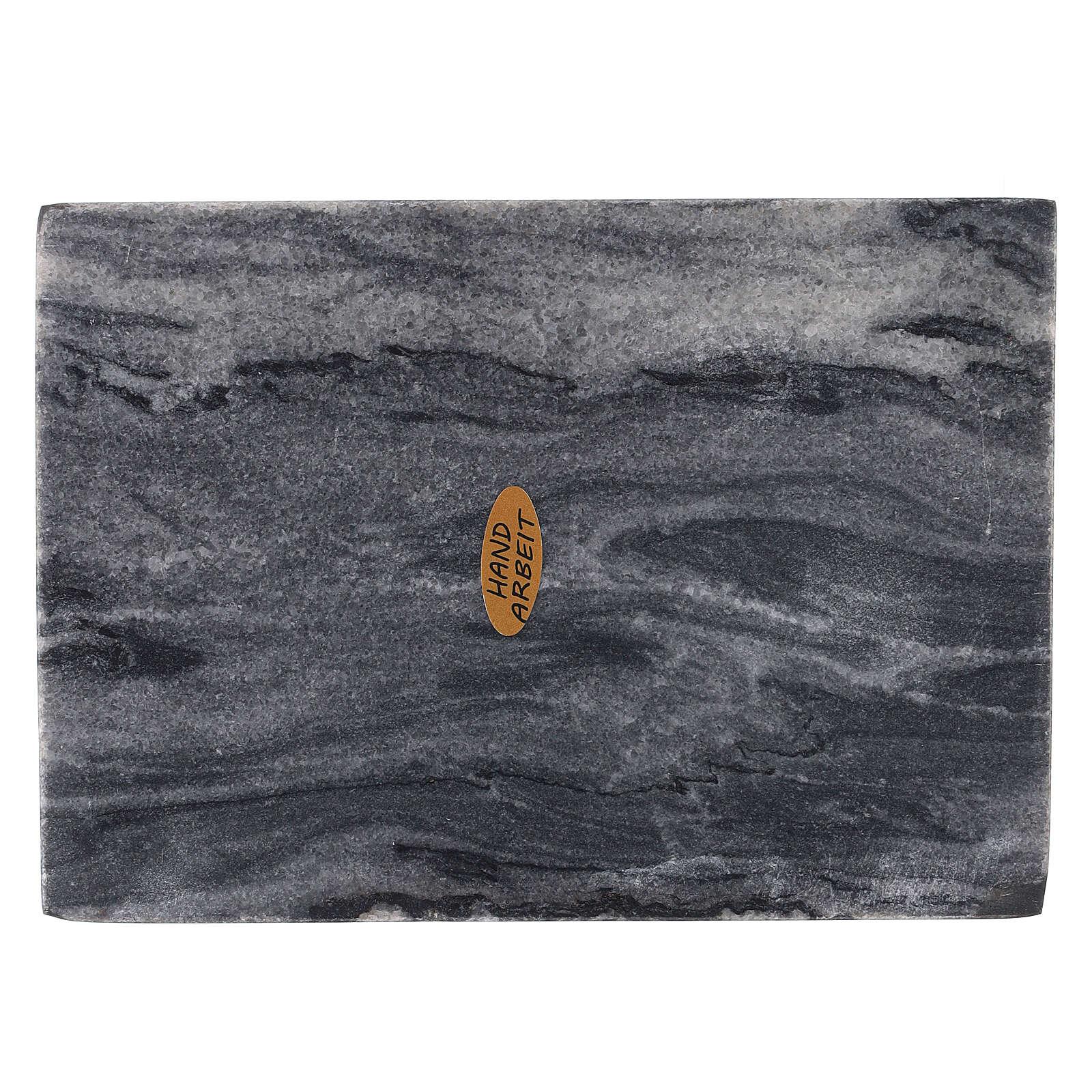 Piatto portacero rettangolo pietra naturale 17x12 3