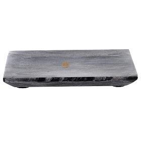 Piatto portacero rettangolo pietra naturale 17x12 s1