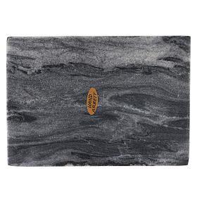 Piatto portacero rettangolo pietra naturale 17x12 s2