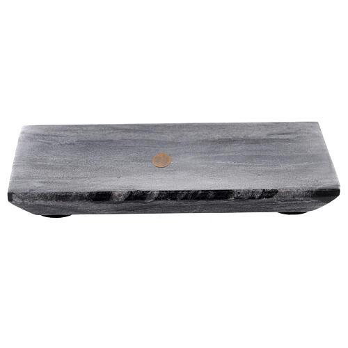 Piatto portacero rettangolo pietra naturale 17x12 1