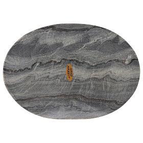 Plato ovalado portavela 20x14 cm piedra natural s2