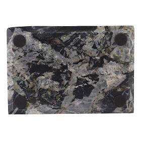 Portacandela piatto rettangolare 20x14 pietra s3