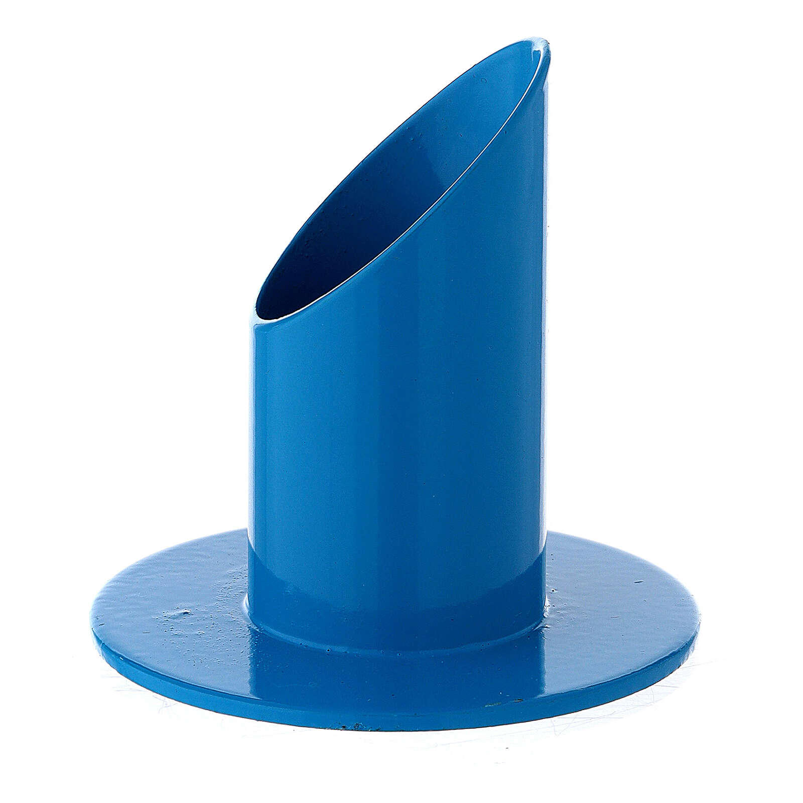 Portavela azul oblicuo hierro 3 cm 3