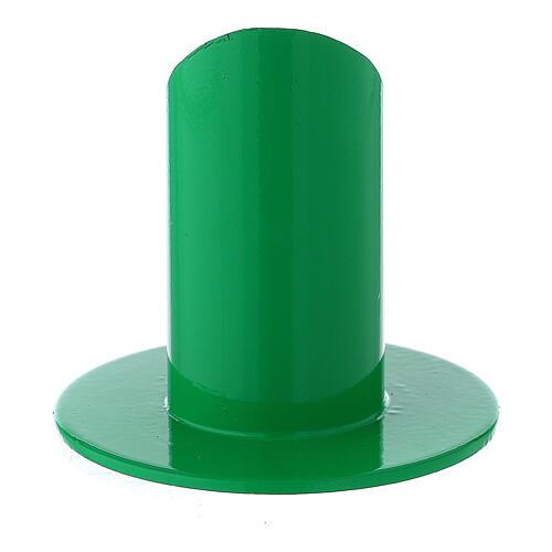 Portacandela verde diametro 3 cm ferro 3
