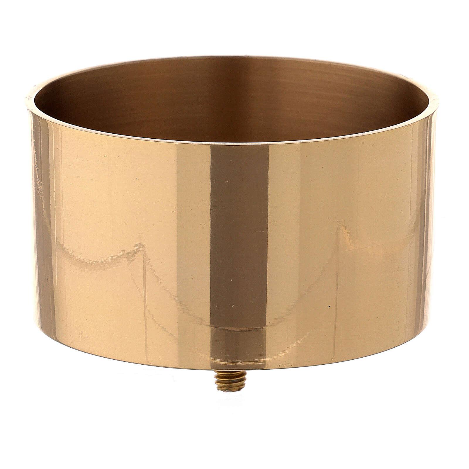 Base para candelero convertible latón dorado 10 cm 4