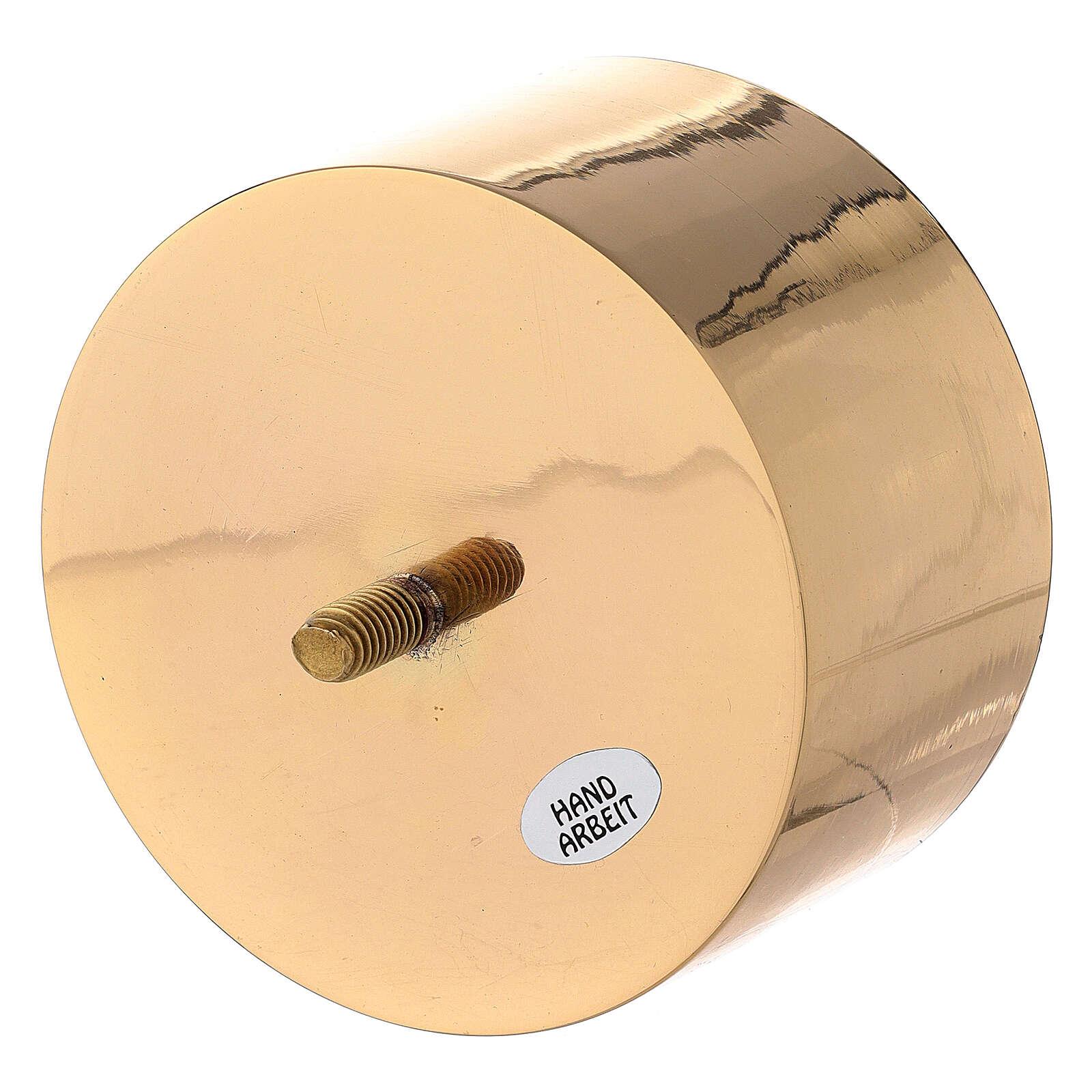 Bossolo per candeliere convertibile ottone dorato 10 cm 4