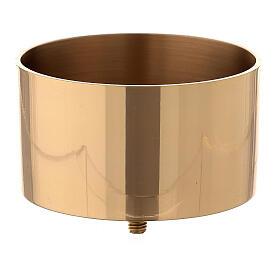 Bossolo per candeliere convertibile ottone dorato 10 cm s1