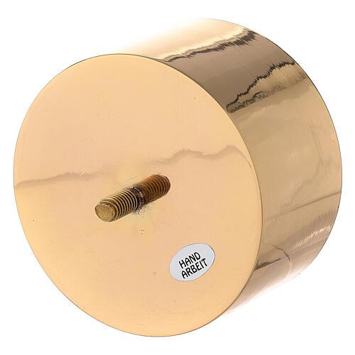 Bossolo per candeliere convertibile ottone dorato 10 cm 2