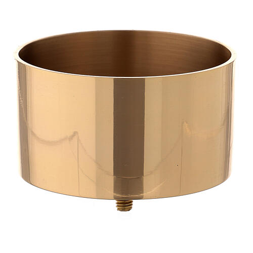 Socket for candle holder of gold plated brass 4 in 1