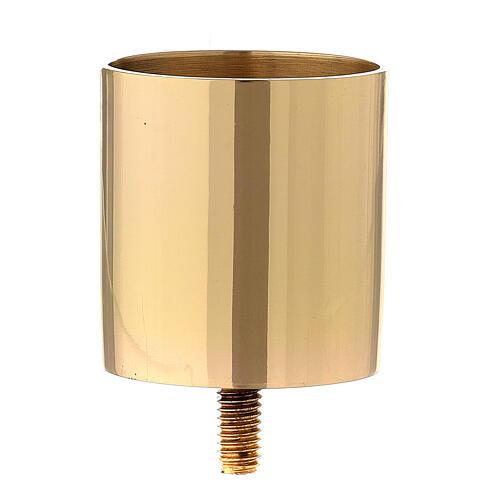 Bocal laiton doré à visser pour chandelier 5 cm 1