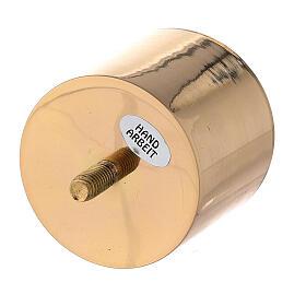 Bossolo candela 6 cm ottone dorato avvitabile s2