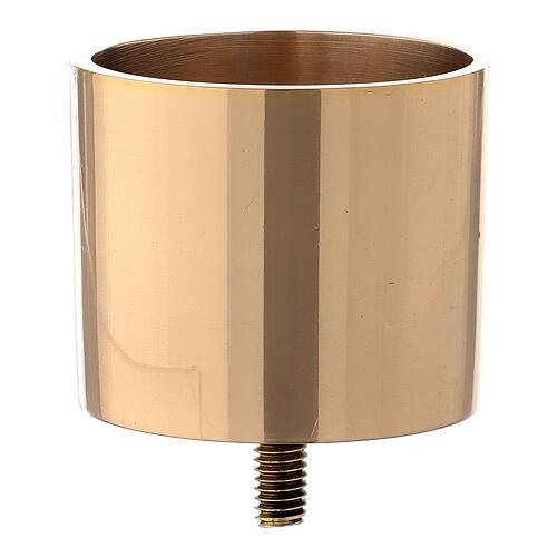 Bossolo candela 6 cm ottone dorato avvitabile 1