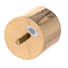 Screw candle socket 2 1/2 in gold plated brass s2