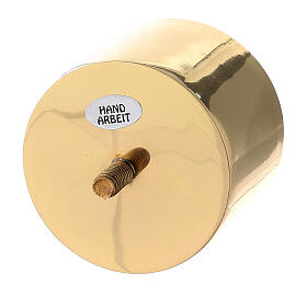 Gold plated brass screw socket for candlestick 2 3/4 in s2