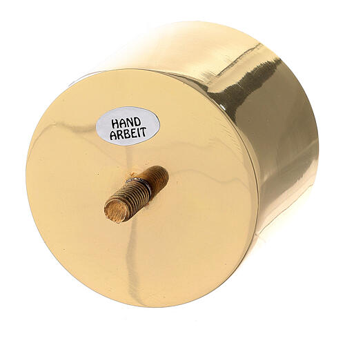 Gold plated brass screw socket for candlestick 2 3/4 in 2
