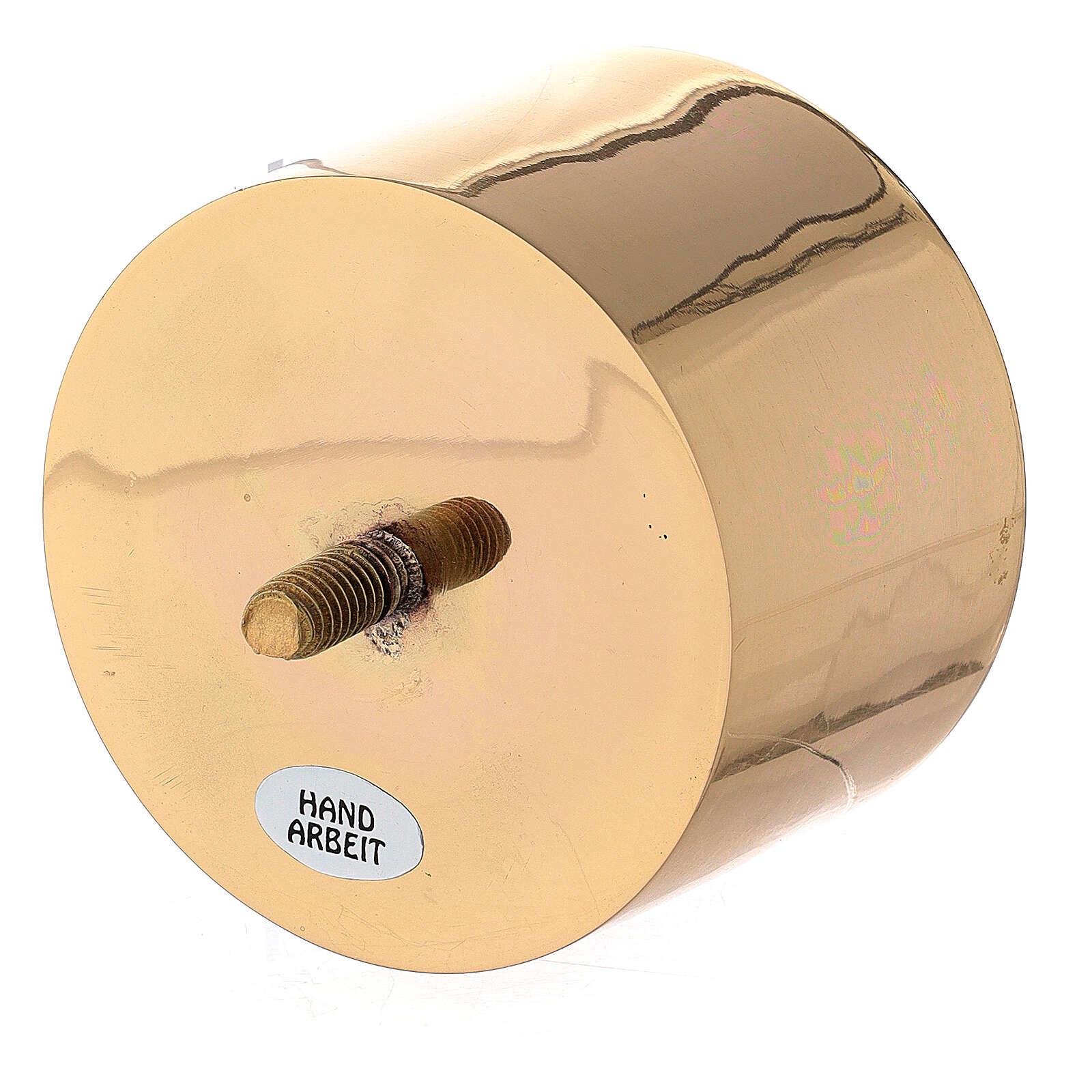 Base vela 8 cm latón dorado candelero convertible 4