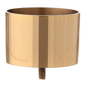 Gold plated brass candle socket for convertible candlestick 3 in s1
