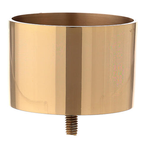 Gold plated brass candle socket for convertible candlestick 3 in 1