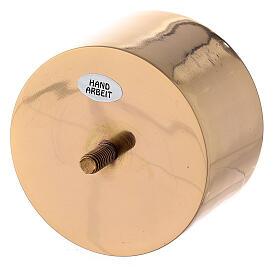 Base atornillable candelero 9 cm latón dorado s2