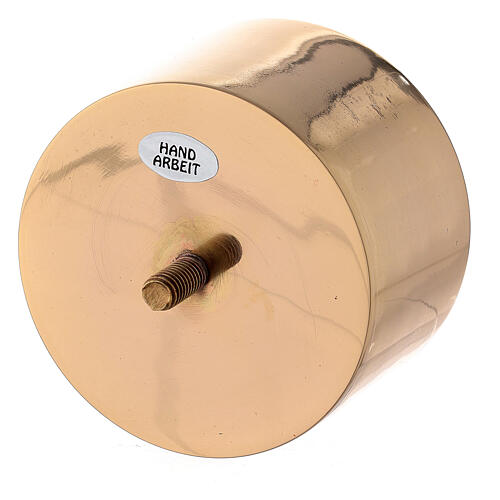 Base atornillable candelero 9 cm latón dorado 2
