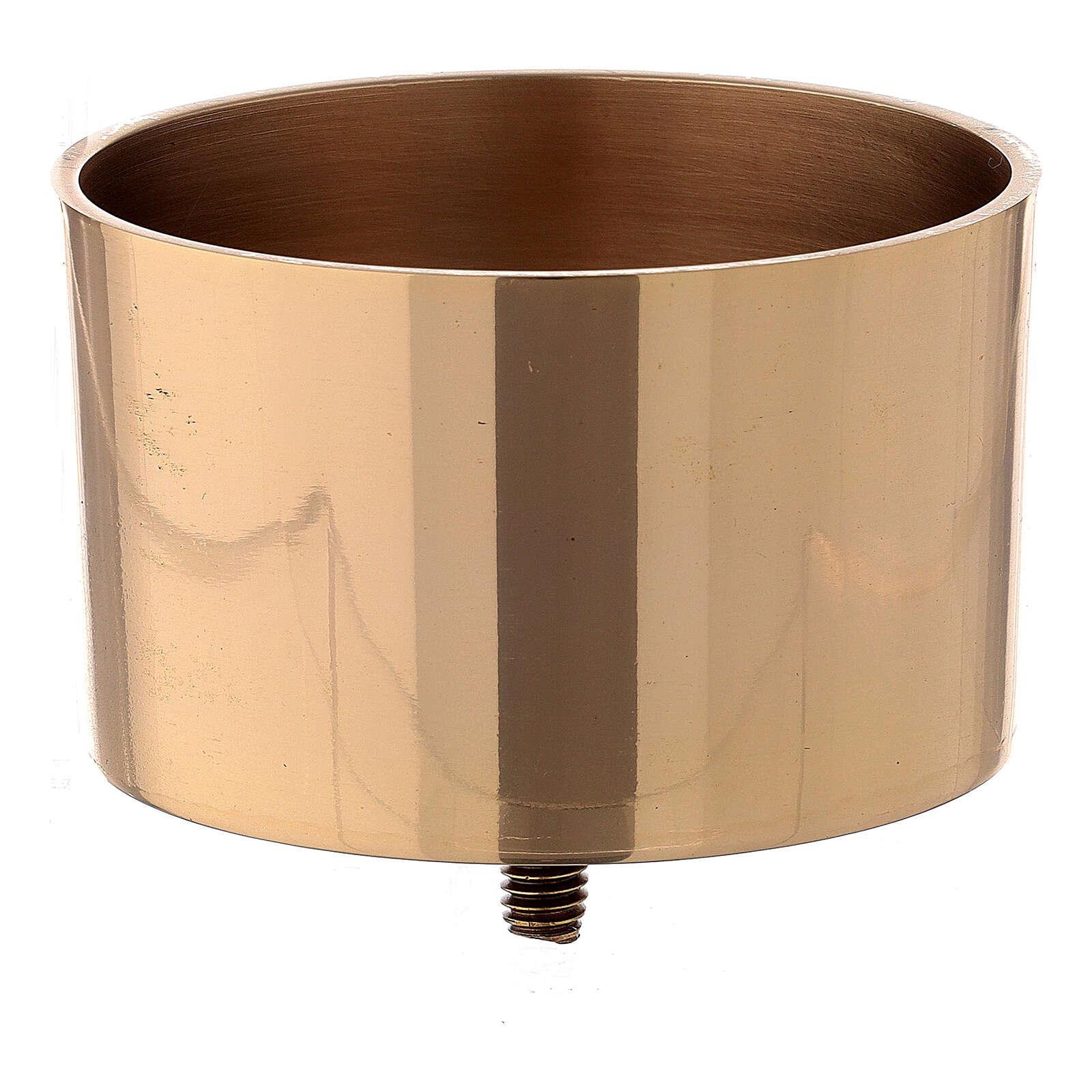 Bossolo avvitabile candeliere 9 cm ottone dorato 4