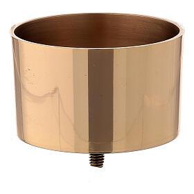 Bossolo avvitabile candeliere 9 cm ottone dorato s1