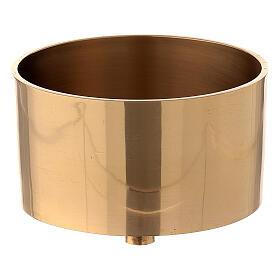 Base vela 10 cm latón dorado atornillable s1