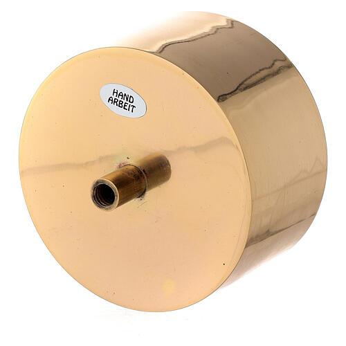 Base vela 10 cm latón dorado atornillable 2
